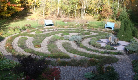 Tigh Shee Labyrinth and Garden in the Fall